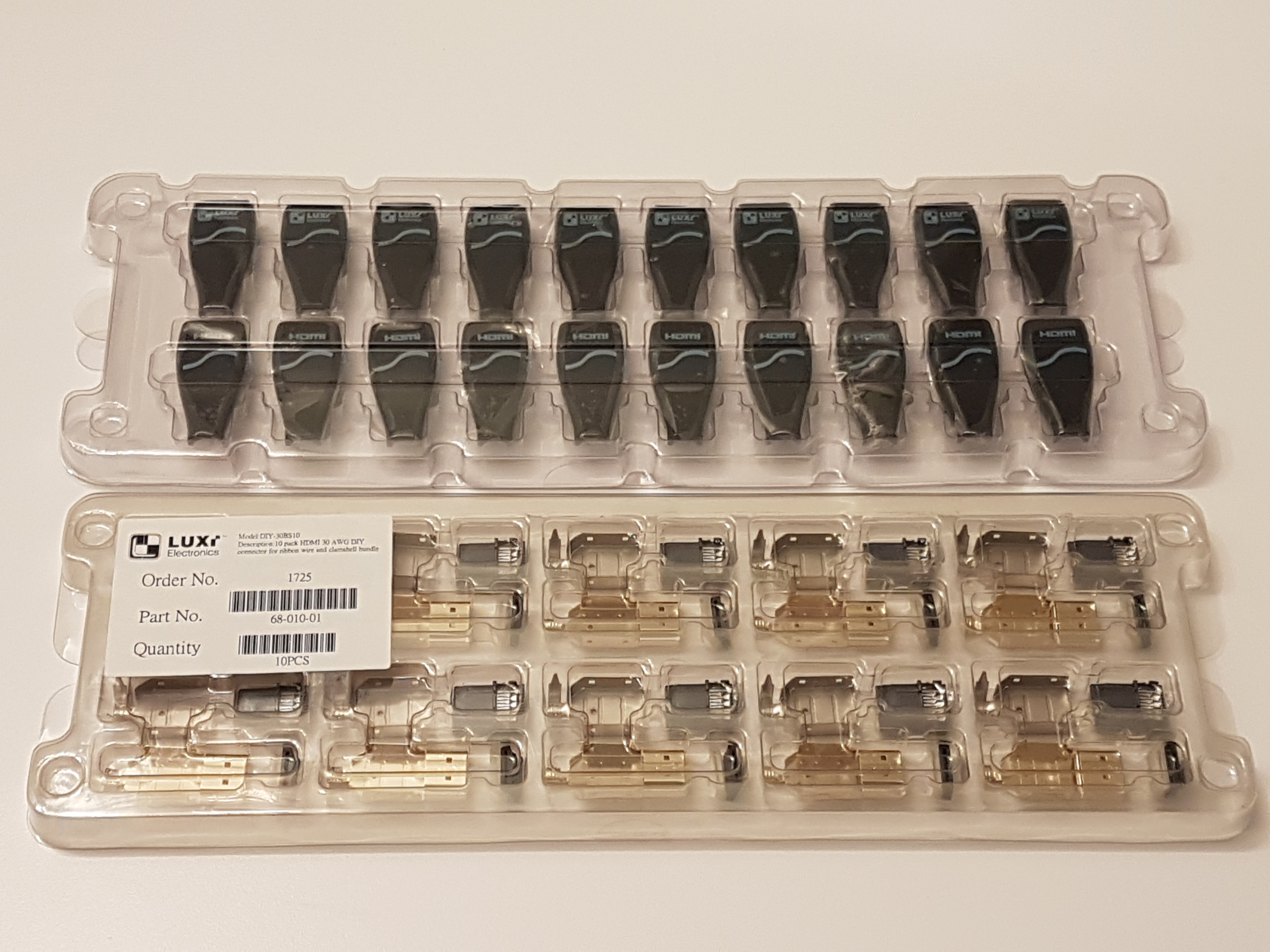 Connecteur HDMI 30 AWG 10pack.